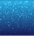 falling snow on blue background vector image vector image