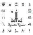 fasting icon ramadan kareem eid mubarak vector image vector image