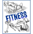 Fitness gym - women and girls vector image vector image