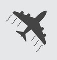 flat airplane icon vector image vector image