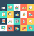flat icon set of shopping vector image vector image
