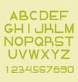 Font set vector image vector image