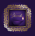 gold and purple diwali background vector image vector image