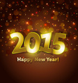 golden 2015 Happy New Year greeting card vector image vector image