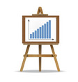 graph presentation icon vector image