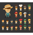 Group of professions cartoon characters vector image vector image