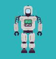 happy robot technology cartoon funny vector image