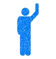 Hitchhike Pose Grainy Texture Icon vector image vector image