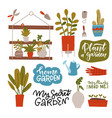 houseplants in pots different green potted plants vector image vector image