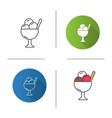 ice cream in bowl icon vector image vector image