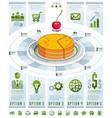 infographics template piece pie idea vector image vector image