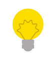 isolated energy bulb vector image