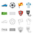 isolated object of soccer and gear symbol vector image vector image