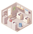 isometric office copy room vector image vector image