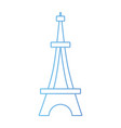 line beauty eiffel tower architecture construction vector image