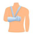 man hand bandage icon cartoon style