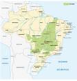 map savanna landscape cerrado in brazil vector image