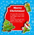 merry christmas holiday card vector image vector image
