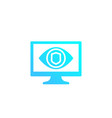 parental control icon eye on computer screen vector image vector image
