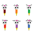 pencil with big eyes vector image vector image