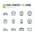 public transport 12 icon set vector image