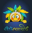 rio party carnaval festive poster smile emoji vector image vector image