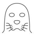 seal thin line icon animal and zoo mammal vector image