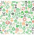 seamless garden icons background vector image