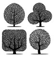 set of four silhouettes vector image vector image