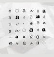 set symbol a for letters vector image vector image