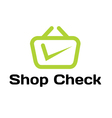 Shop Check Design vector image vector image