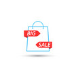 shopping bag symbol is a big sale vector image vector image