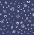 show flakes seamless pattern vector image vector image
