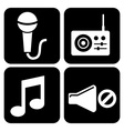 sound icons vector image vector image