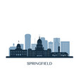 springfield skyline monochrome silhouette vector image vector image