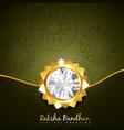 stylish rakhi background vector image vector image