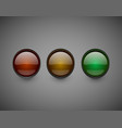 traffic lights isolated on dark background vector image vector image