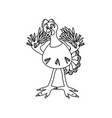 turkey on white vector image vector image