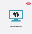 two color online gambling icon from user vector image