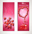 vertical Flyers with hearts vector image vector image