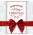 We wish you Merry Christmas greeting card vector image