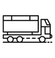 wheat truck icon outline style vector image