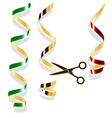 Background with party streamers vector image