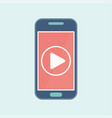 video play mobile vector image