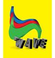 3D wave symbol vector image