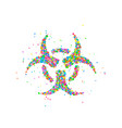 abstract nuclear radiation sign vector image