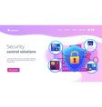 access control system concept landing page vector image vector image
