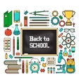 Back School Card vector image