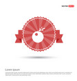 bomb icon - red ribbon banner vector image