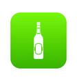 bottle of beer icon digital green vector image